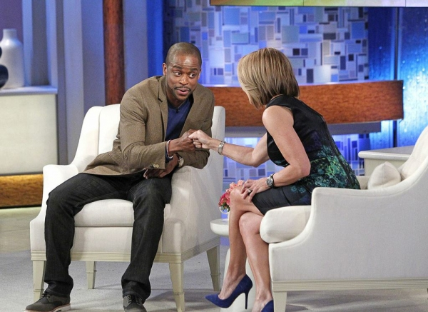 Photo Flash: Dule Hill & AFTER MIDNIGHT Cast Visit KATIE!