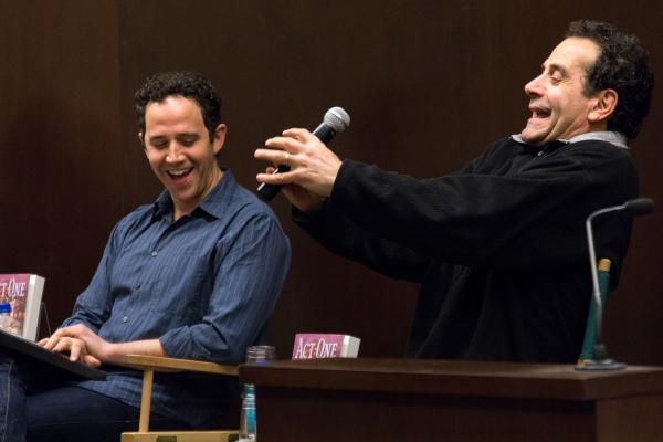 Photo Coverage: Tony Shalhoub & Santino Fontana Read from ACT ONE at Barnes & Noble