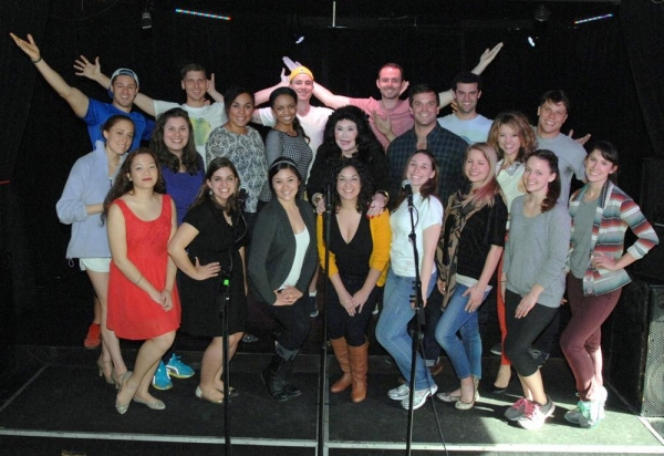 Co-Executive producer, Barbara Van Orden with all the contestants as the competition began.