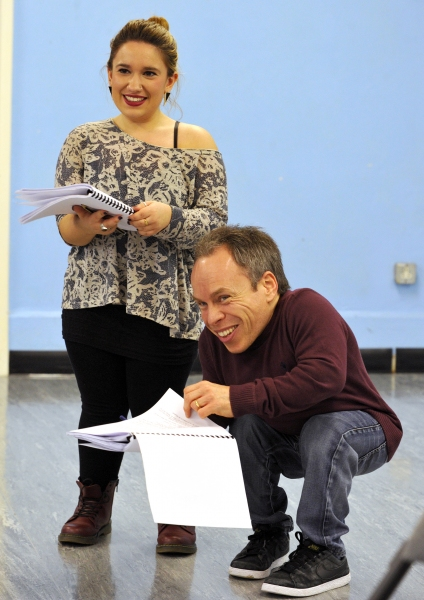Photo Coverage: Warwick Davis in Rehearsal for SEE HOW THEY RUN!