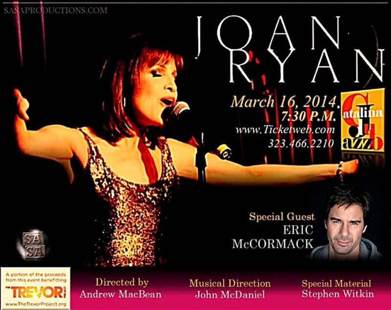 Joan Ryan Brings Solo Show To Catalina Jazz Club, 3/16