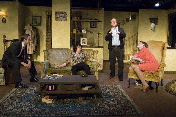Joe Jalette (Nick), Julie Herber (Martha), Tad Janes (George), and Courtney McLaughli Photo