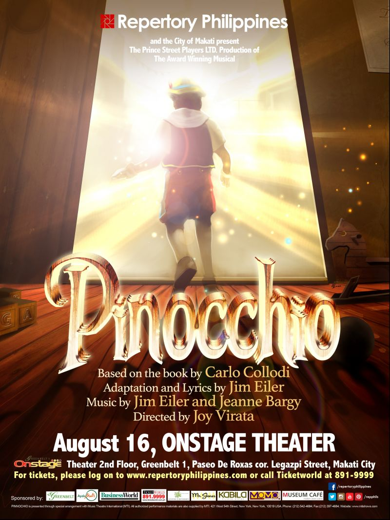 Rep Announces Auditions for PINOCCHIO, 3/1