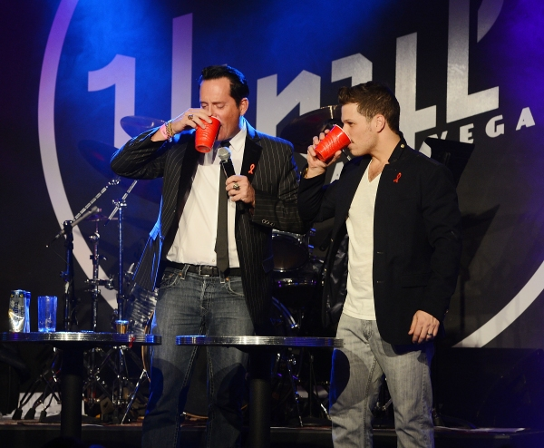 Mark Shunock with hypnotist Anthony Cools
