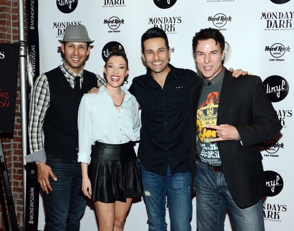 Cast Members from JERSEY BOYS: Buck Hujabre, Lauren Tartaglia, Jason Martinez and Douglas Crawford