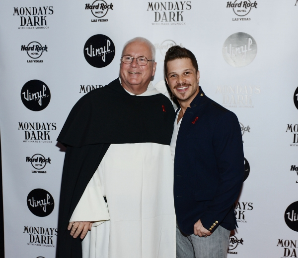 Father Joseph O'Brien (Executive Director of St. Therese Center) and Mondays Dark creator and Rock of Ages star, Mark Shunock