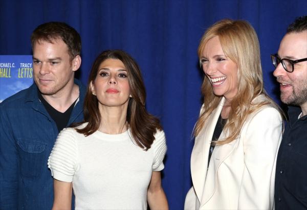 Michael C. Hall, Marissa Tomei, Toni Collette and Director Sam Gold Photo