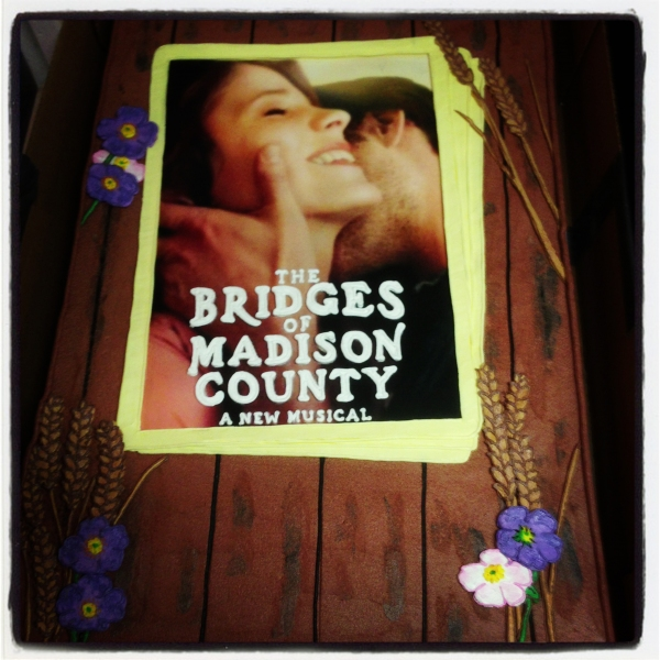 Exclusive Photo Coverage: THE BRIDGES OF MADISON COUNTY's Opening Night Cake!