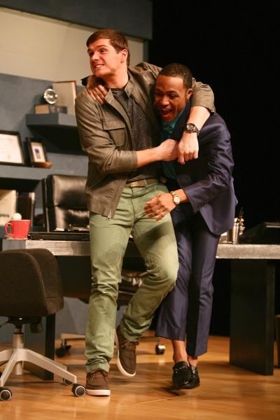 Tyler Wiseman (Charlie Fox) and Alex Thompson (Gould)