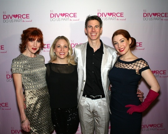 The cast of Til Divorce Do US Part, from left to right: Erin Mcguire, Dana Eilson, John Thomas Fischer (who also wrote the music) and Gretchen Wylder