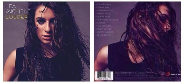 Full Look At Lea Michele's LOUDER Album Art! Cover, Back Cover & Final Track List