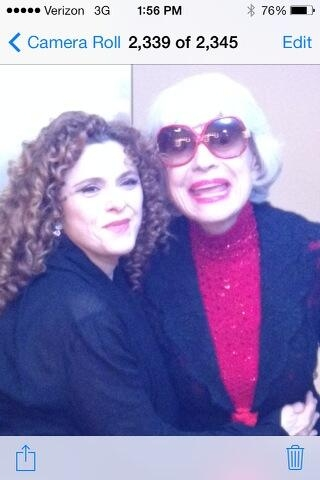 Bernadette Peters and Carol Channing