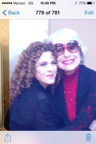 Photo Flash: Carol Channing Visits Bernadette Peters at the McCallum