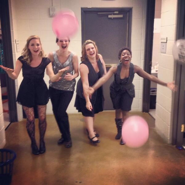 Photo Flash: Saturday Intermission Pics, Feb 22, Part 2 - First SIP from Off-Broadway's 'FIFTY SHADES!'; Plus 'BRIDGES,' WICKED & More!