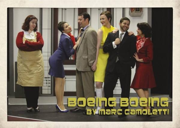 Rachel Wesley (Bertha), Helen Rios (Gloria), Bryan Maynard (Robert), Megan Nix (Gretchen), Brian Chambers (Bernard) and Amanda Baird (Gabriella)