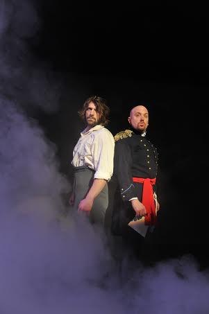 Cliff McCormick (Jean Valjean) and Eric Jon Mahlum (Javert)