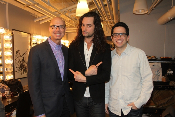 Richie Ridge, Constantine Maroulis and Robert Diamond