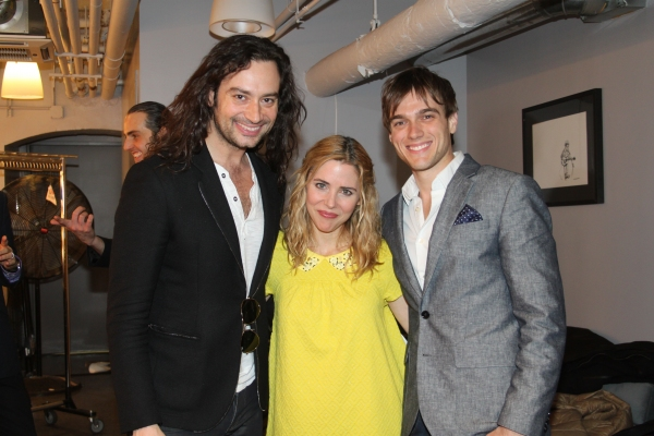 Constantine Maroulis, Kerry Butler and Justin Sargent