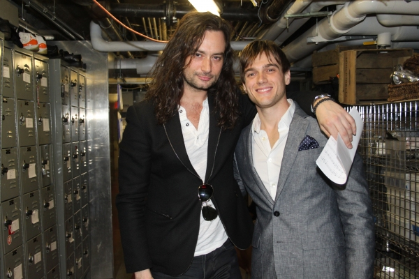 Constantine Maroulis and Justin Sargent