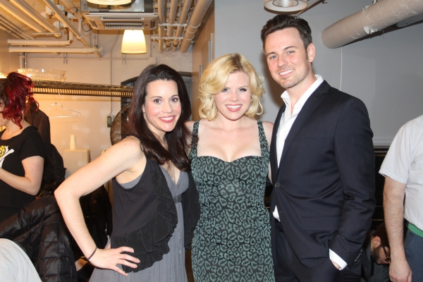 Jenna Leigh Green, Megan Hilty and Brian Gallagher