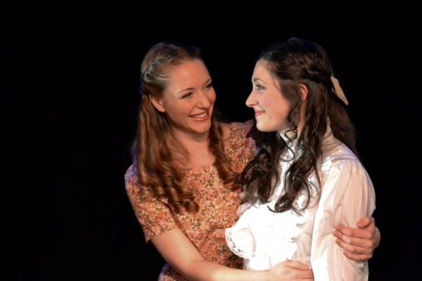 Sara Hymes as Marie and Morgan DeTogne as Julie  Photo