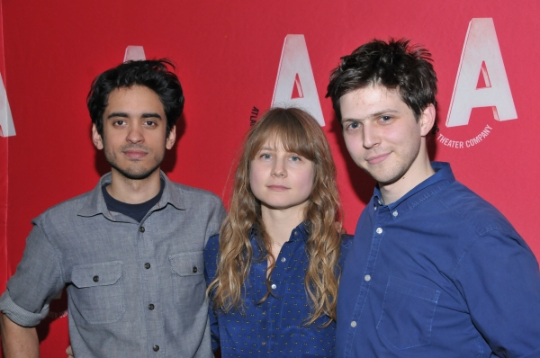 Annie Baker with band members Raky Sastri and Josh Arnoudse