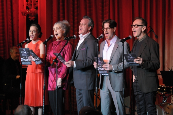 Laura Osnes, Mary Beth Peil, Michael Park, Rick Holmes and John Kelly