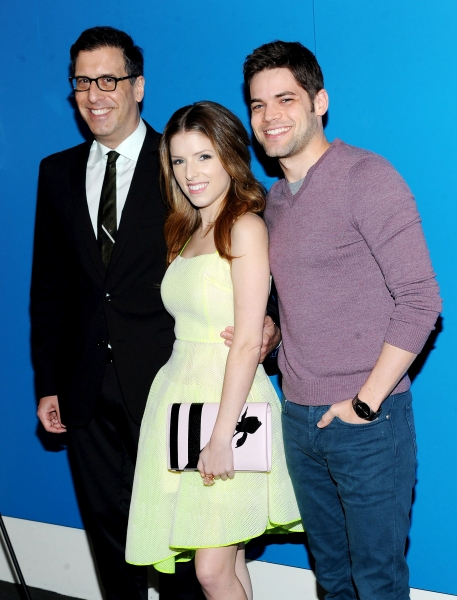 Mandatory Credit: Photo by Picture Perfect/REX USA (1925805s)Richard LaGravenese, Anna Kendrick and Jeremy Jordan''The Last Five Years'' film screening, New York, America - 24 Feb 2014