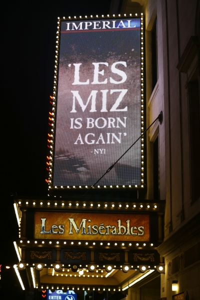 Up on the Marquee: LES MISERABLES- More at the Imperial Theatre!