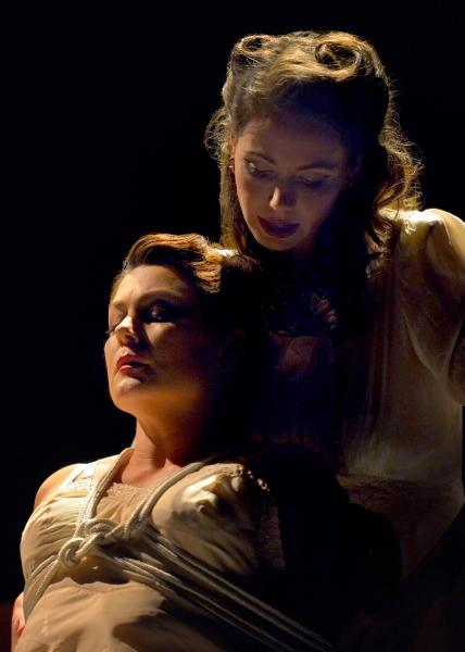 Jessa Brie Moreno (The Wife) and Liz Sklar (The Amazon)