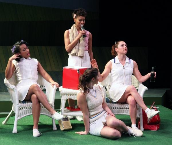 Hero (Briana Maia), Ursula (Khetanya Henderson), Margaret (Olivia Saccomanno) and Beatrice (Sarah Wintermeyer)