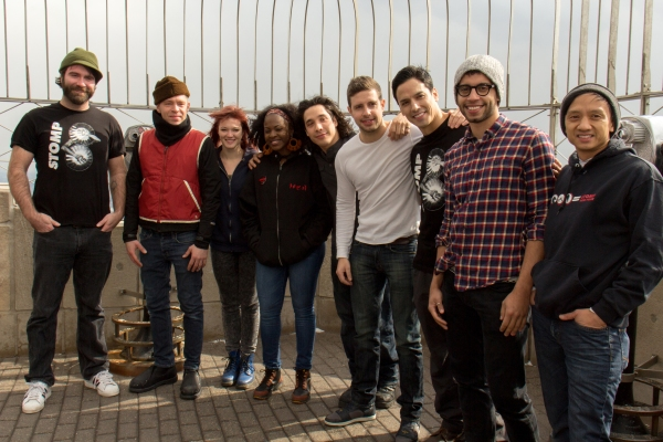 Photo Coverage: STOMP Cast Lights Empire State Building for 20th Anniversary!