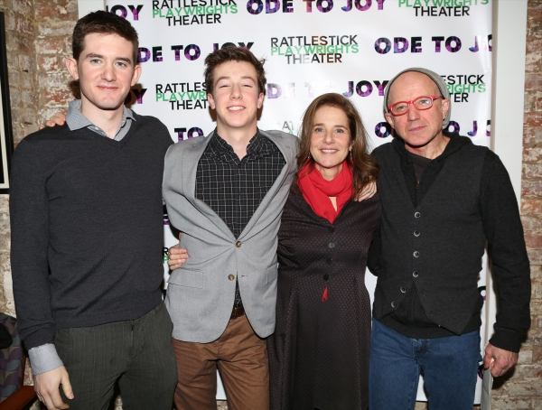 Noah Hutton, Gideon Babe Ruth Howard, Debra Winger and Arliss Howard  Photo
