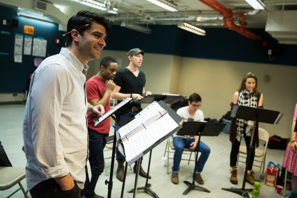 Photo Flash: Matt Doyle, Hunter Foster, Ryan Scott Oliver & More in Rehearsal for Prospect Theater's JASPER IN DEADLAND