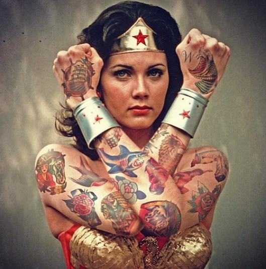 Photo Flash: Artist Cheyenne Randall Re-Imagines Celebrities with Tattoos
