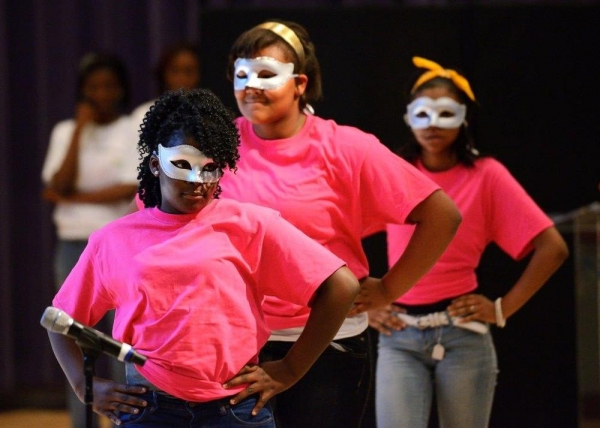 Students perform an original musical they created as part of Johnny Mercer Foundation Photo