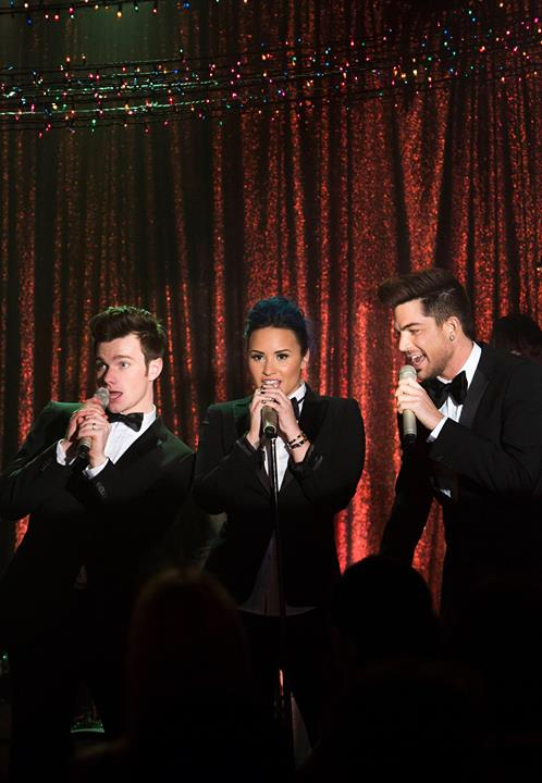 First Look At Demi Lovato & Adam Lambert On This Week's GLEE