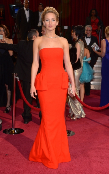 Jennifer Lawrence at the  86th Annual Academy Awards Oscars (wearing Christian Dior)