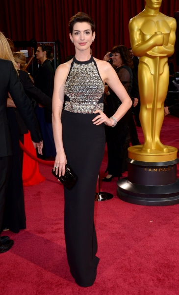 Anne Hathaway at the 86th Annual Academy Awards Oscars (wearing Gucci)
