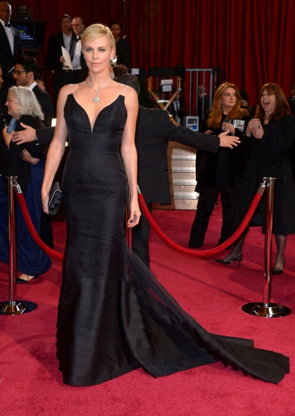 Charlize Theron at the 86th Annual Academy Awards Oscars (wearing Christian Dior)