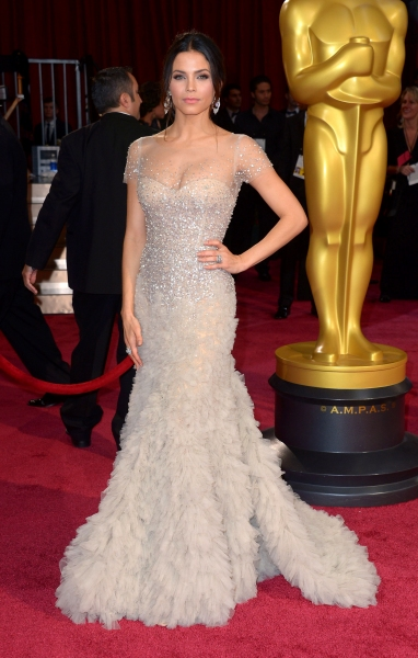 Jenna Dewan at the 86th Annual Academy Awards Oscars (wearing Reem Acra)