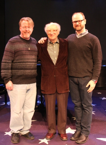 (L to R) Christopher McGovern (music director), Sheldon Harnick (composer) and Carl Andress (director)