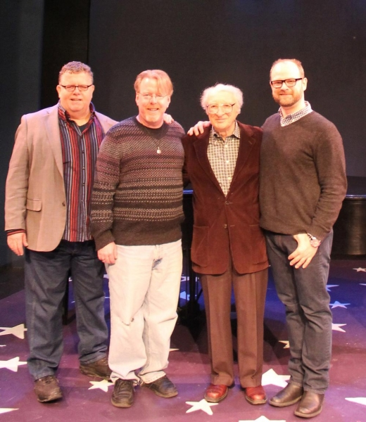 James Morgan (Producing Artistic Director), Christopher McGovern (music director), Sheldon Harnick (composer) and Carl Andress (director)