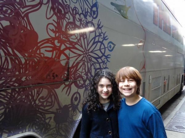 Lilla Crawford (Annie) and Jonah Verdon (Disaster!) Photo