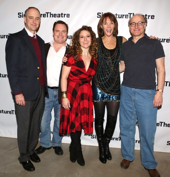 Michael Countryman, Danny McCarthy, Hannah Bos, Carolyn McCormick and Peter Friedman