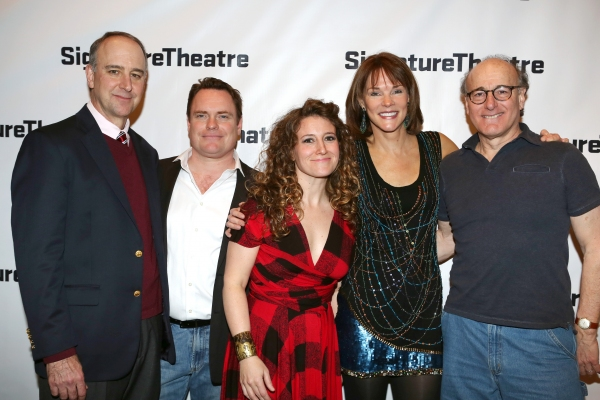 Michael Countryman, Danny McCarthy, Hannah Bos, Carolyn McCormick and Peter Friedman attend the ''The Open House'' Opening Night Party at Signature Theatre Company''s The Pershing Square Signature Center on March 3, 2014 in New York City.