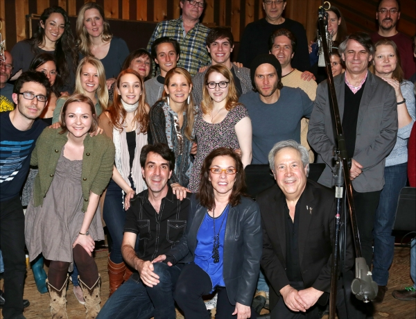 Composer Jason Robert Brown, Playwright Marsha Norman, Director Bartlett Sher with cast ensemble