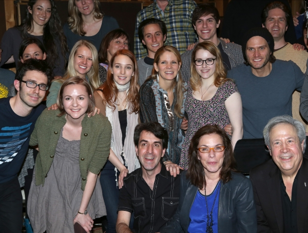Composer Jason Robert Brown, Playwright Marsha Norman with cast ensemble