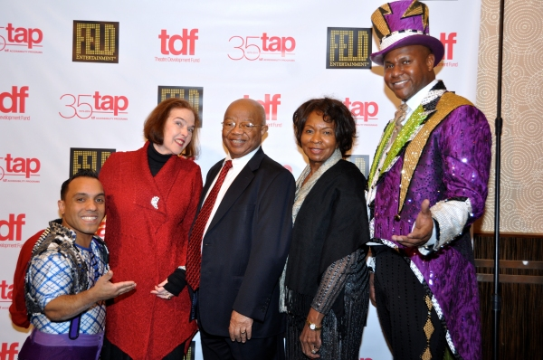 Paulo Dos Santos, Penny Peters (TDF Trustee), Dr. James Comer, Betty Comer and Johnathan Lee Iverson