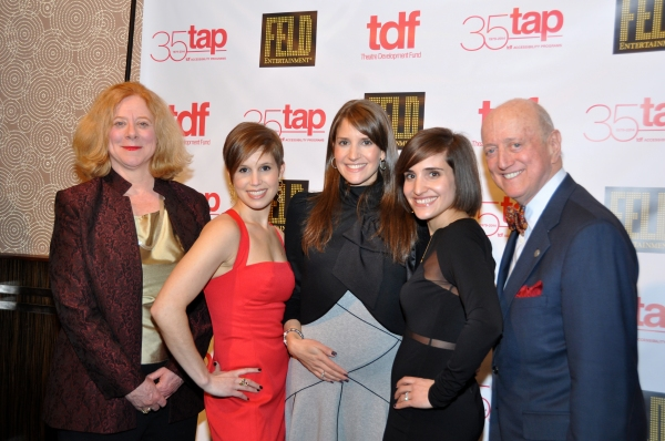 Victoria Bainey (TDF Board of Trustees), Nicole Feld, Alana Feld, Juliette Feld and Earl D. Weiner